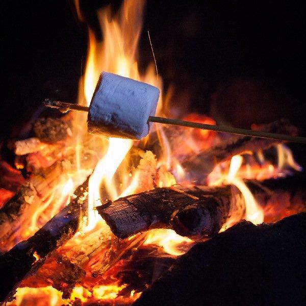 Marshmallow on fire